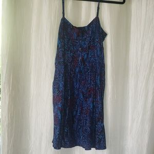 Blue patterned casual Express summer dress